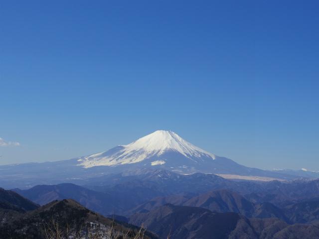 鍋割山(二俣~後沢乗越コース)コースガイド 鍋割山山頂からの富士山【登山口ナビ】
