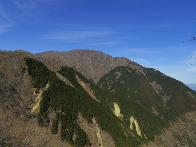 檜洞丸(日陰沢~犬越路コース) 登山口コースガイド 崩落地からの大室山【登山口ナビ】