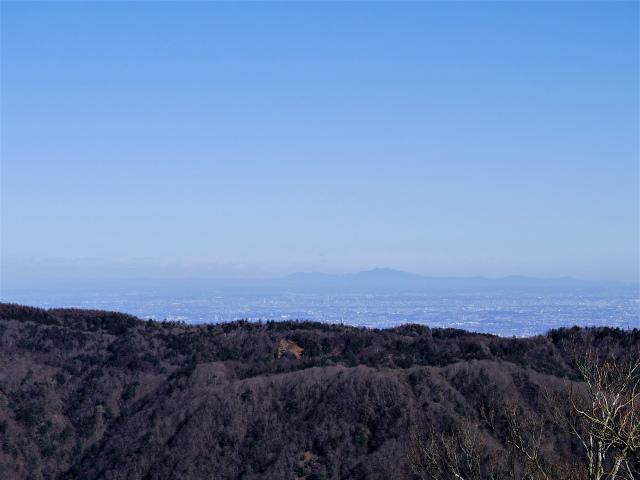 檜洞丸(板小屋沢~石棚山稜)登山口コースガイド 青ヶ岳山荘から筑波山の眺望