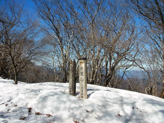 大室山(日陰沢橋~犬越路コース) 登山口コースガイド 大室山山頂【登山口ナビ】