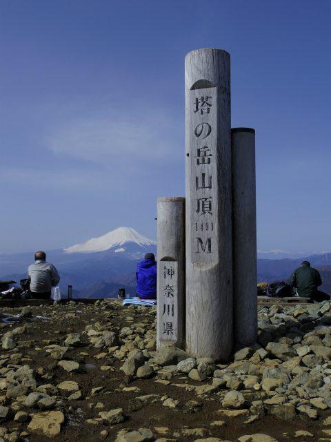 塔ノ岳(烏尾尾根) 登山口コースガイド 塔ノ岳山頂【登山口ナビ】