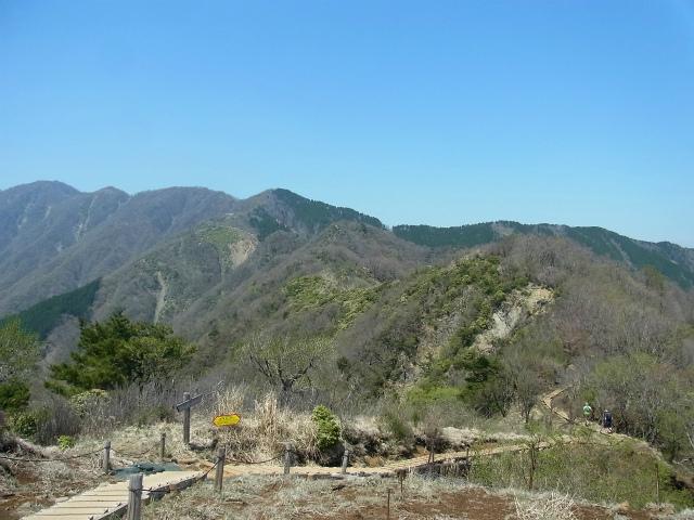 塔ノ岳(烏尾尾根) 登山口コースガイド 烏尾山山頂から表尾根の眺望【登山口ナビ】