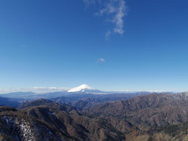 塔ノ岳(二俣~大倉尾根コース) 登山口コースガイド 塔ノ岳山頂からの富士山と鍋割山【登山口ナビ】