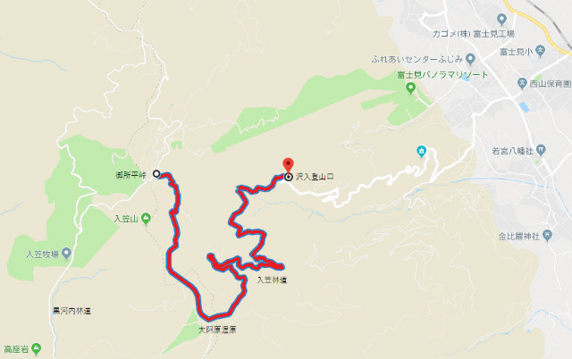 入笠林道規制区間【登山口ナビ】