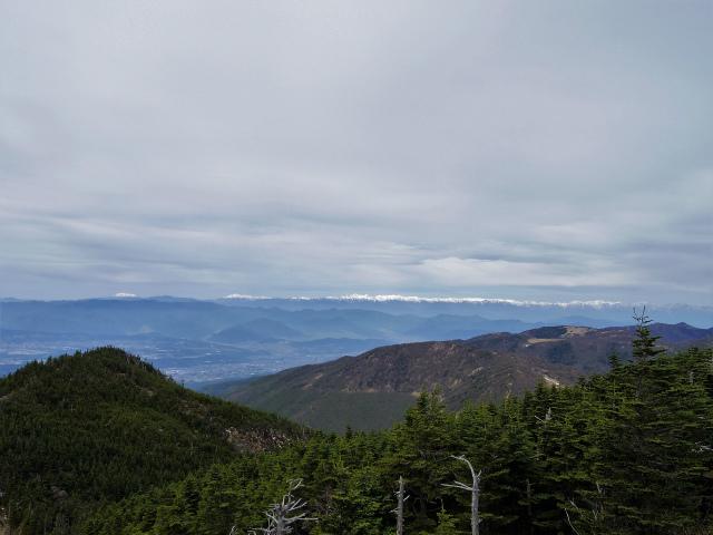 黒斑山(表コース・中コース) 登山口コースガイド トーミの頭山頂からの北アルプスの眺望【登山口ナビ】