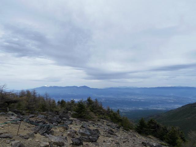 黒斑山(表コース・中コース) 登山口コースガイド ガレ場からの八ヶ岳【登山口ナビ】