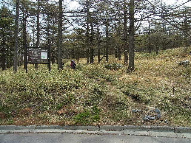 黒斑山(表コース・中コース) 登山口コースガイド 中・裏コース登山道入口【登山口ナビ】