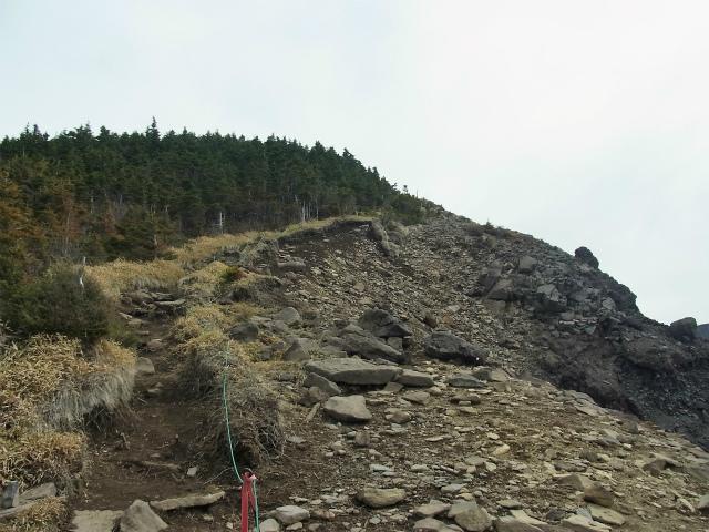 黒斑山(表コース・中コース) 登山口コースガイド トーミの頭の急登【登山口ナビ】