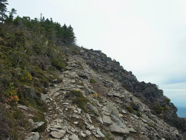 黒斑山(表コース・中コース) 登山口コースガイド 黒斑山の崖側【登山口ナビ】