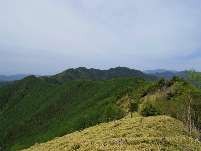 和名倉山(三ノ瀬~東仙波)登山口コースガイド 東仙波山頂から笠取山の稜線【登山口ナビ】