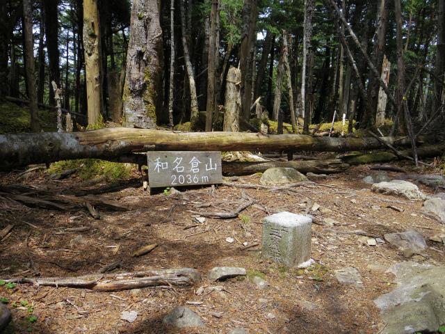 和名倉山(三ノ瀬~東仙波)登山口コースガイド 和名倉山三角点 【登山口ナビ】