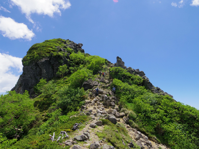 八ヶ岳・天狗岳(西尾根~黒百合平周回) 登山口コースガイド 天狗の鼻【登山口ナビ】
