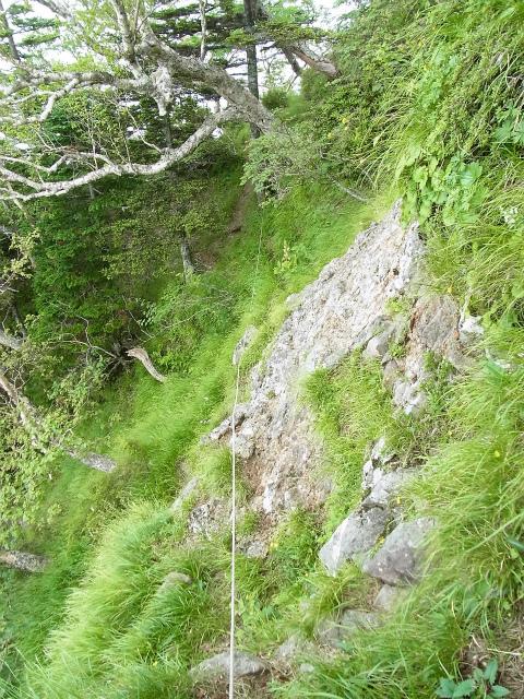 八ヶ岳・赤岳(天狗尾根) 登山口コースガイド P1峰巻き道【登山口ナビ】
