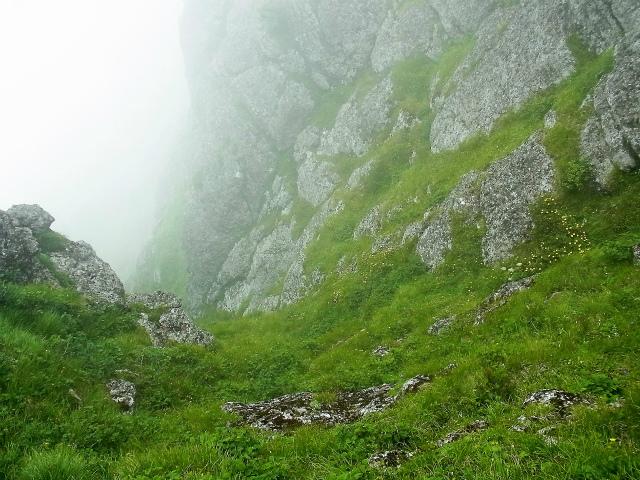 八ヶ岳・赤岳(天狗尾根) 登山口コースガイド P2峰の絶壁下部【登山口ナビ】