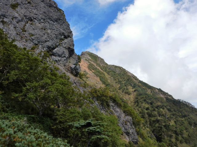 八ヶ岳・赤岳(天狗尾根) 登山口コースガイド 大天狗巻き道【登山口ナビ】