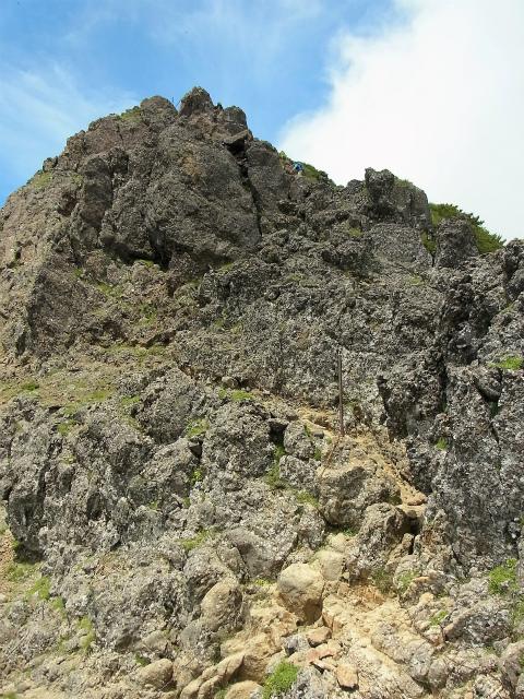 八ヶ岳・赤岳(天狗尾根) 登山口コースガイド 赤岳山頂直下の急登【登山口ナビ】
