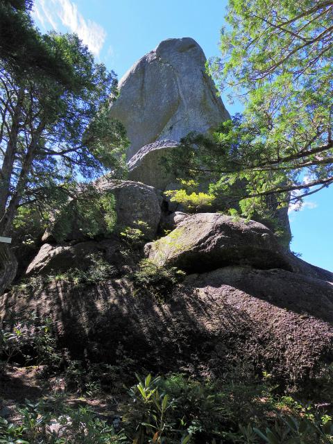 金峰山・五丈石(アコウ平~表参道)登山口コースガイド 片手回し岩【登山口ナビ】