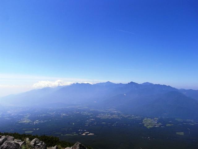 八ヶ岳・編笠山(観音平~青年小屋周回) 登山口コースガイド 編笠山山頂からの南アルプス【登山口ナビ】