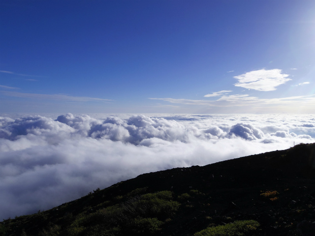 富士山・宝永山(富士宮口) 登山口コースガイド表口六合目雲海荘からの眺望【登山口ナビ】