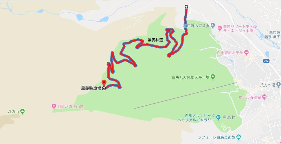 【八方尾根】黒菱林道の通行規制地図【登山口ナビ】