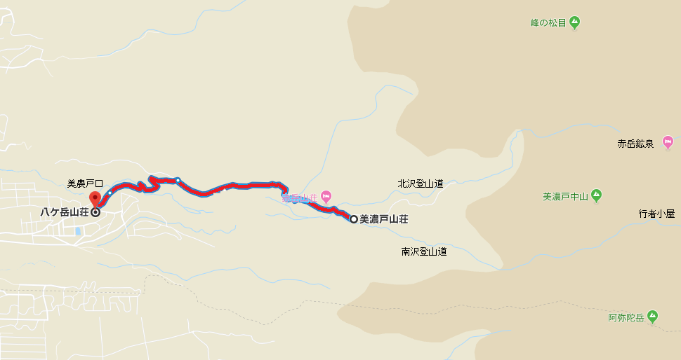 【南八ヶ岳】美濃戸へアクセスする林道の通行止区間地図【登山口ナビ】