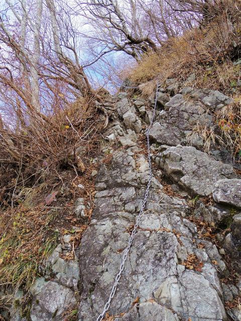 蛭ヶ岳(源蔵尾根~臼ヶ岳)登山口コースガイド 鎖場【登山口ナビ】