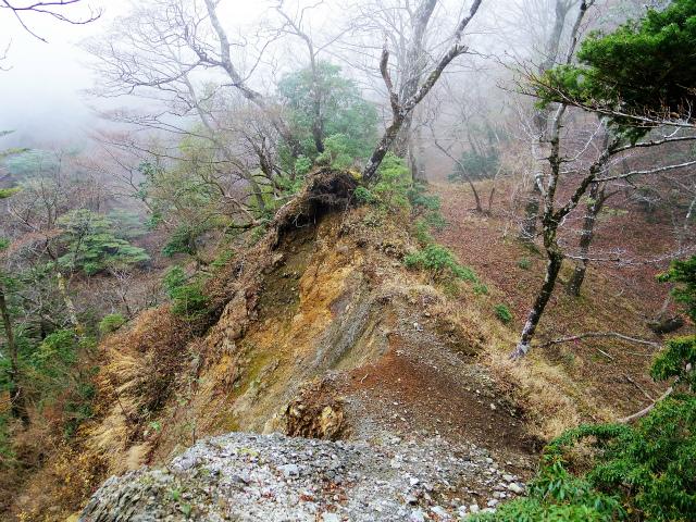 蛭ヶ岳(源蔵尾根~臼ヶ岳)登山口コースガイド 崩落地【登山口ナビ】