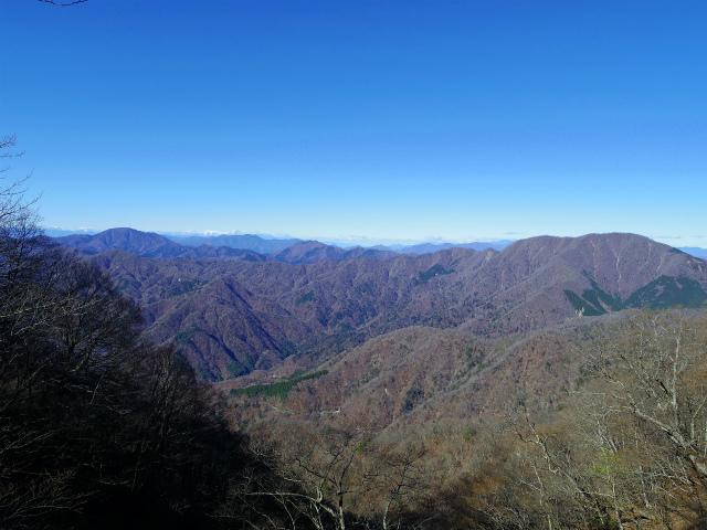 檜洞丸(板小屋沢~石棚山稜) 登山口コースガイド 崩壊地上部からの大室山と南アルプス【登山口ナビ】