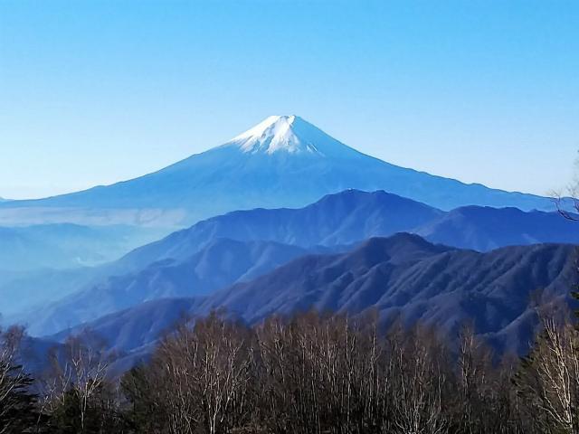 秀麗富嶽十二景 1番山頂 登山口コースガイド 雁ヶ腹摺山山頂【登山口ナビ】