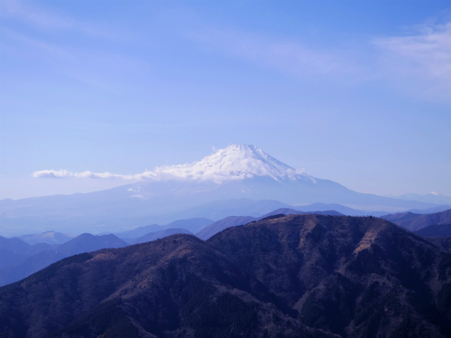 大山(不動尻~唐沢峠)登山口コースガイド 富士見台からの富士山の眺望【登山口ナビ】