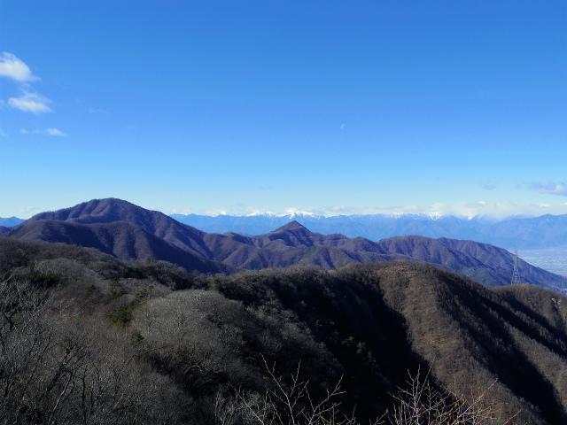 三ツ峠山(本社ヶ丸~清八山) 清八山山頂からの南アルプス【登山口コースガイド】