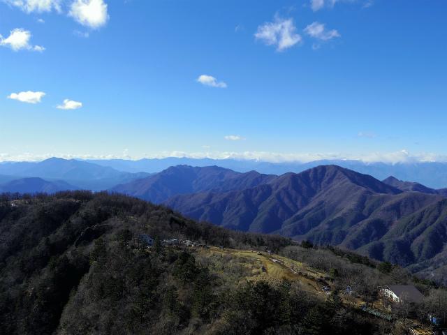 三ツ峠山(北口登山道)登山口コースガイド 開運山山頂からの南アルプスの眺望【登山口コースガイド】