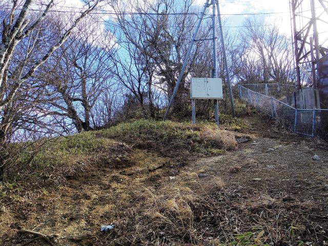 三ツ峠山(北口登山道)登山口コースガイド 山頂分岐【登山口コースガイド】