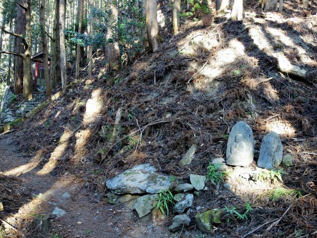 鷹ノ巣山(六ツ石山~石尾根縦走路)登山口コースガイド 稲荷神社と地蔵【登山口ナビ】