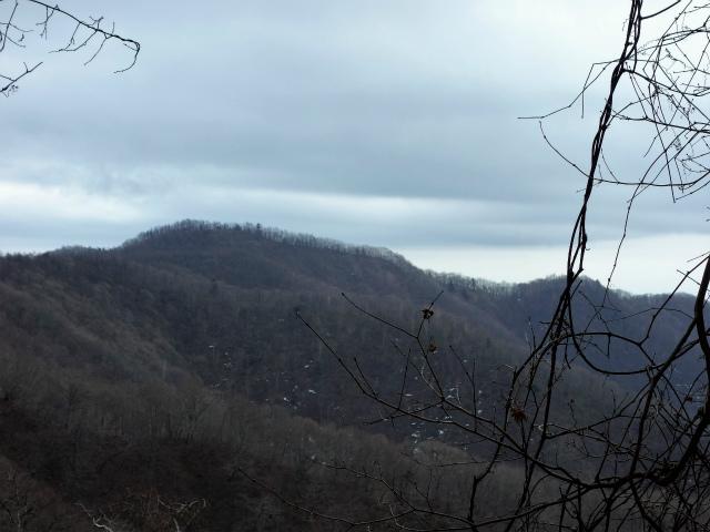 鷹ノ巣山(六ツ石山~石尾根縦走路)登山口コースガイド トラバース路からの六ツ石山【登山口ナビ】