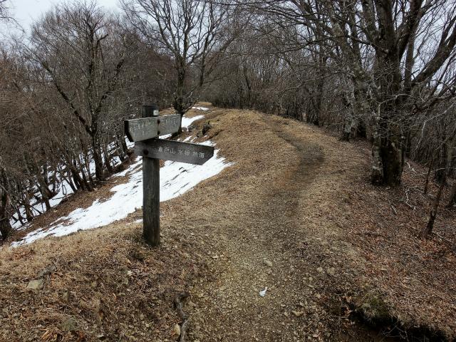鷹ノ巣山(六ツ石山~石尾根縦走路)登山口コースガイド 尾根筋コース合流点【登山口ナビ】