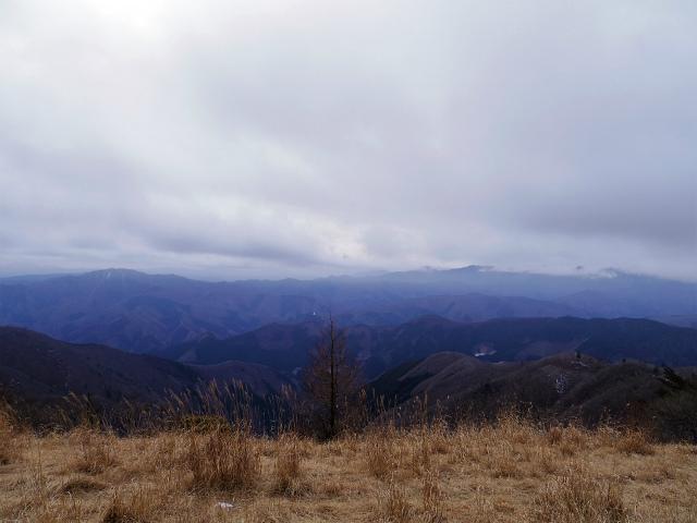 鷹ノ巣山(六ツ石山~石尾根縦走路)登山口コースガイド 山頂直下からの三頭山や大菩薩連嶺の眺望【登山口ナビ】
