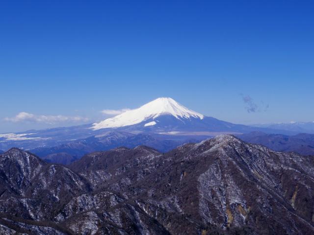 蛭ヶ岳(八丁坂ノ頭~姫次)コースガイド 蛭ヶ岳山頂からの富士山【登山口ナビ】
