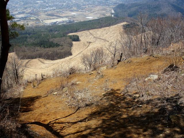 杓子山(鳥居地峠~高座山)登山口コースガイド 山頂直下の急傾斜【登山口ナビ】