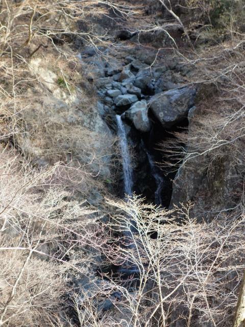 塔ノ岳(書策新道) 登山口コースガイド 崩落個所手前の一本滝【登山口ナビ】