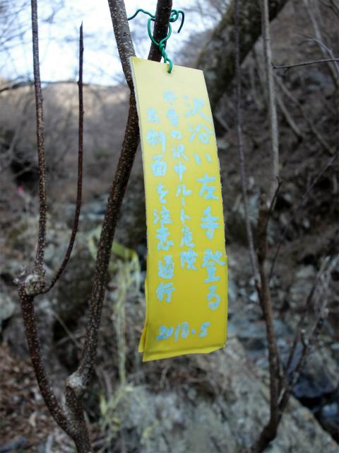 塔ノ岳(書策新道) 登山口コースガイド セドノ沢指導標【登山口ナビ】