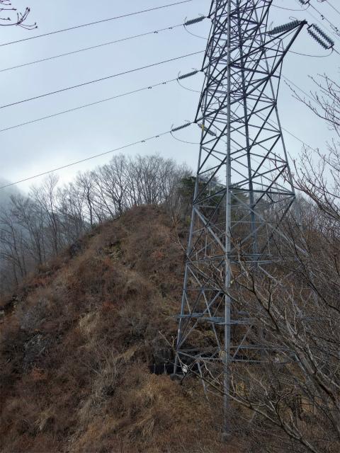 杓子山(鳥居地峠~高座山)登山口コースガイド 送電線鉄塔【登山口ナビ】