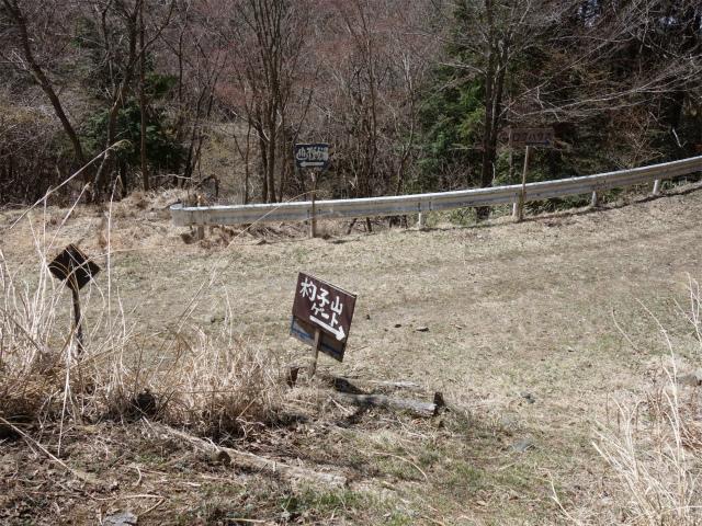 杓子山(鳥居地峠~高座山)登山口コースガイド 大明見林道ゲート下【登山口ナビ】