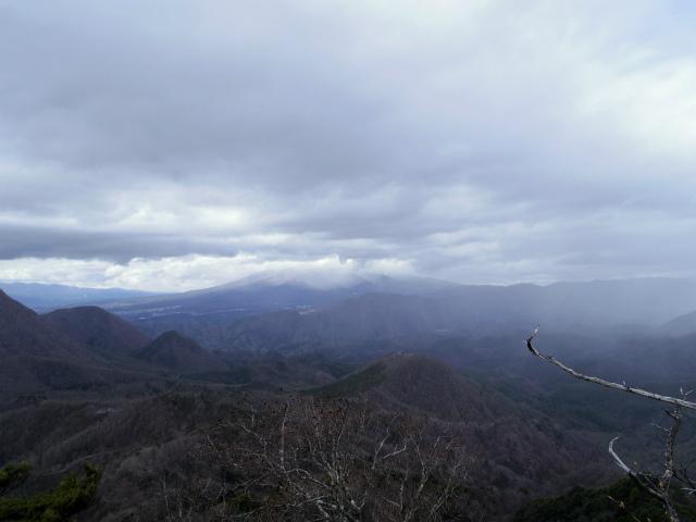 曲岳・黒富士(観音峠大野山林道コース)登山口コースガイド 展望ブリッジからの八ヶ岳【登山口ナビ】