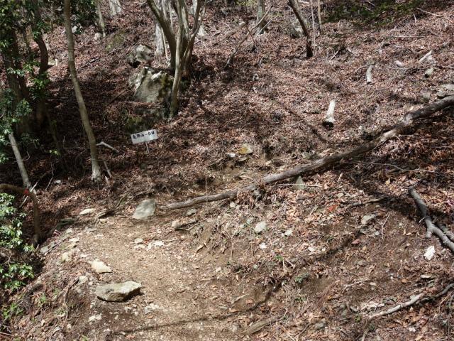 毛無山(不動の滝コース)登山口コースガイド 一合目標識【登山口ナビ】