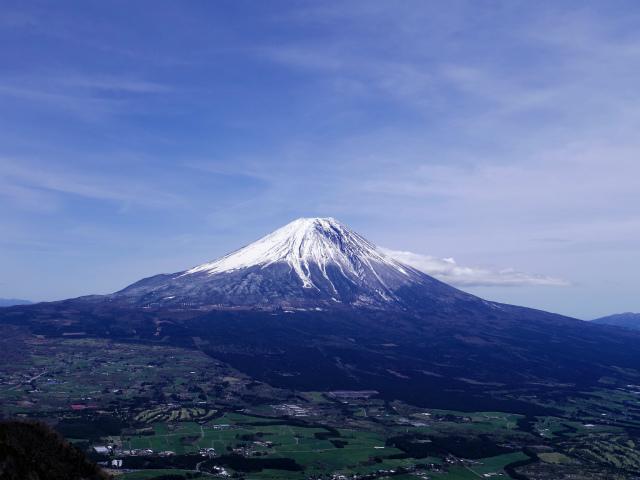 毛無山(不動の滝コース)登山口コースガイド 富士山展望台からの眺望【登山口ナビ】