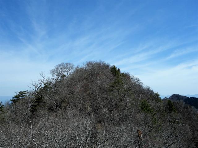 鬼ヶ岳(雪頭ヶ岳~鍵掛峠周回)登山口コースガイド 中間ピークから鬼ヶ岳の眺望【登山口ナビ】