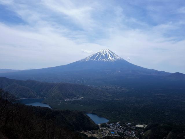 王岳(西湖根場~鍵掛峠周回)登山口コースガイド 稜線からの富士山【登山口ナビ】