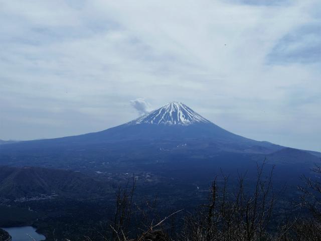 王岳(西湖根場~鍵掛峠周回)登山口コースガイド 王岳山頂からの富士山【登山口ナビ】