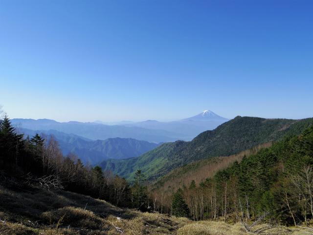 黒金山(桧尾~牛首のタル) 登山口コースガイド 牛首のタルからの富士山【登山口ナビ】